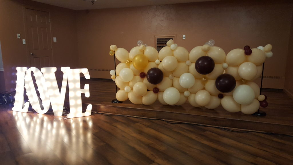 Balloon wall for Bridal Show